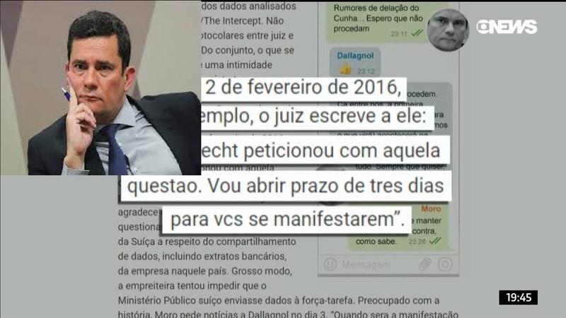 Revista Veja divulga novas mensagens envolvendo Sérgio Moro