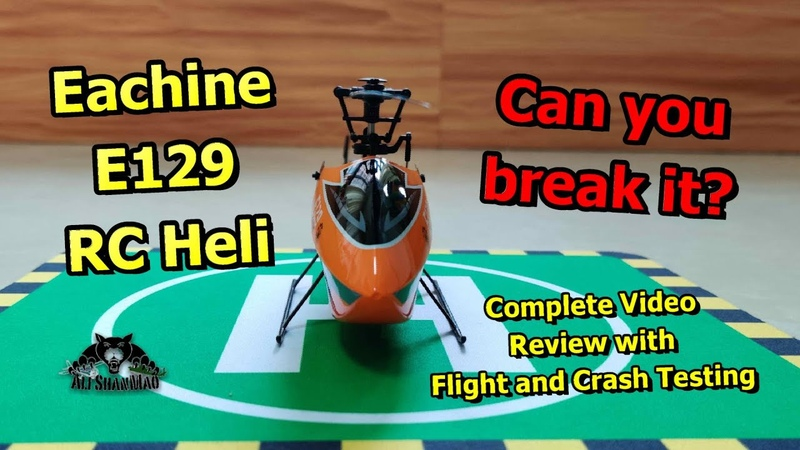 Eachine E129 4CH 6 Axis Gyro Altitude Hold Flybarless RC Helicopter RTF