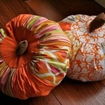 Веселые тыквы из цветных тканей (МК)