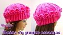 Como hacer Boina tejida a crochet en punto Cocodrilo o escamas paso a paso en español.