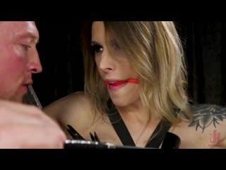 Casey Kisses submits to Pierce Paris [TS, Trans, Shemale, Hardcore, BDSM, Bondage, Anal, Bareback, Blowjob, Facial, Cumshot]