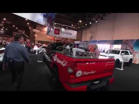 """SEMA Press Conference 2018 Nachi Robots Serve Up Pizza in a Toyota Tundra Pie"""" Pro"""