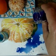 """Мила Наумова on Instagram: """"Не смогла устоять и сняла мандариновый мастер-класс в нашем домике художников.  Жаль, что передать вкус мандаринов я не в силах 😌 Они такие…"""""""