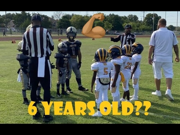 Adult sized 6 year old Dominates the peewee football field