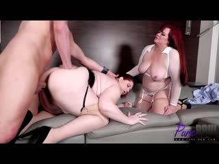 Marcy Diamond, Shanelle Savage - Late night work session leads to inevitable threesome  [BBW, Big Tits, Porn, Порно, Толстушка]