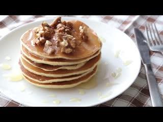 Панкейки, американские блинчики на молоке(Ингредиенты под видео) | Больше рецептов в группе Десертомания