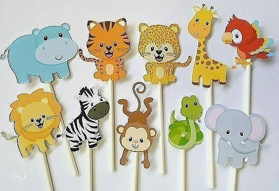 Картинки животных для театра на палочках