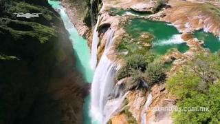 Cascada de Tamul desde el aire (Huasteca Potosina) DJI Phantom