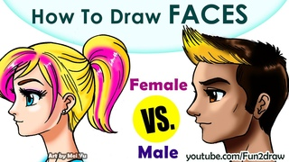 HOW TO DRAW A FACE | Fun2draw | Anime Manga Online Art Lessons