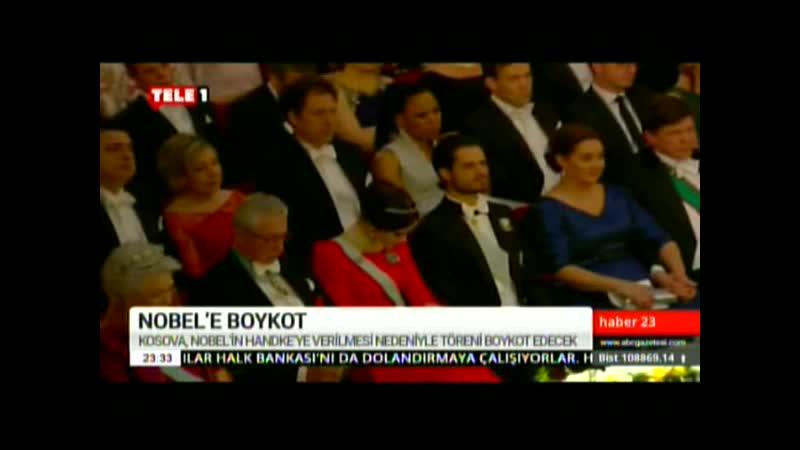 KOSOVA NOBEL'İ BOYKOT ETTİ. 8.12.2019. PZR.