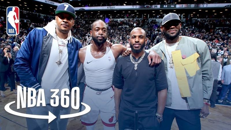 Dwyane Wade's Farewell | LeBron James, Chris Paul, and Carmelo Anthony in Attendance NBANews NBA Heat DwyaneWade