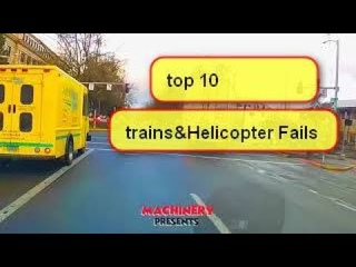 Top 10 Dangerous Trains Crashing & Helicopter Fails ! Amazing Road Trains Crossing River 2