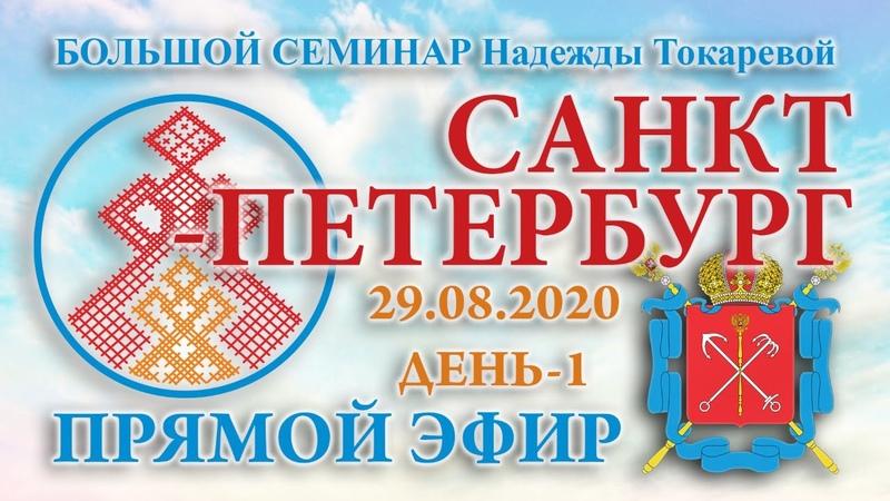 Надежда Токарева 29 08 2020 Д 1 Большой семинар Санкт Петербург Прямой Эфир
