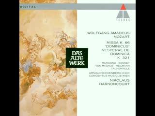 "Mozart W.A. – Missa Solemnis in C Major, KV 66 ""Dominicusmesse"" -  Barbara Bonney, soprano, conducter Nikolaus Harnoncourt, 1991"