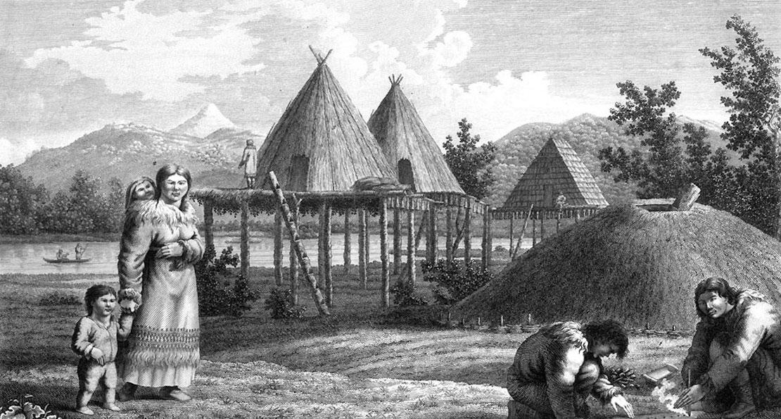 Селение камчадалов
