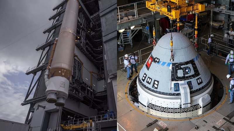 Atlas V and CST-100 Starliner getting ready for launch (4K UHD)
