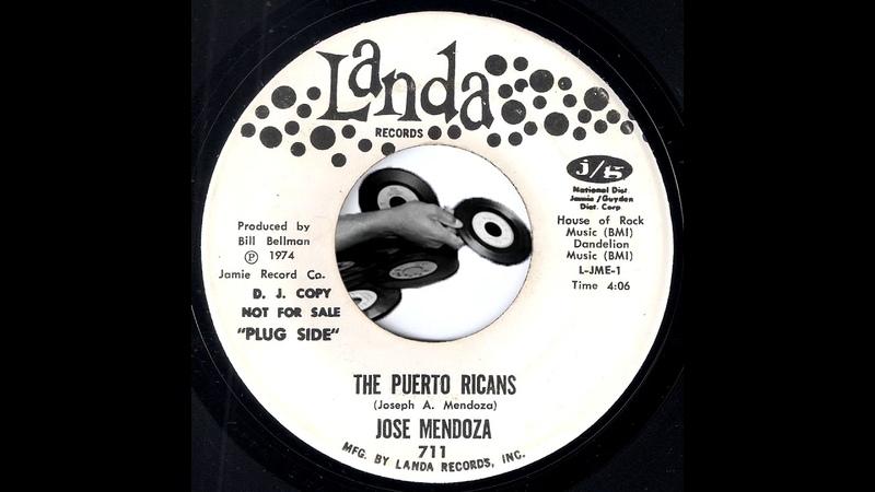 Jose Mendoza - The Puerto Ricans [Landa] 1974 Stand Up Comedy Novelty 45