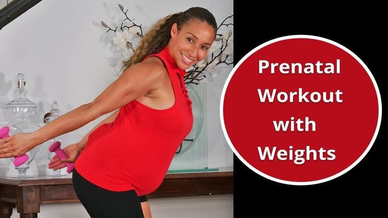 Kamilah Barrett Prenatal Workout with Weights First Second Trimester Тренировка для беременных первый и второй триместр