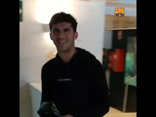 Camp nou - players are here! - barçalfc