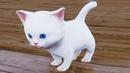 Симулятор Сумасшедшего Котенка 1 Белый Котик в Раннере Kitten Madness с Кидом на пурумчата