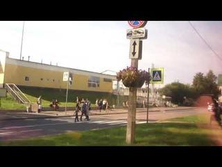 Солнечный и прекрасный город Зеленогорск в Петербурге - из окна автобуса!