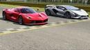 Ferrari LaFerrari vs Lamborghini Sian at Monza Full Course