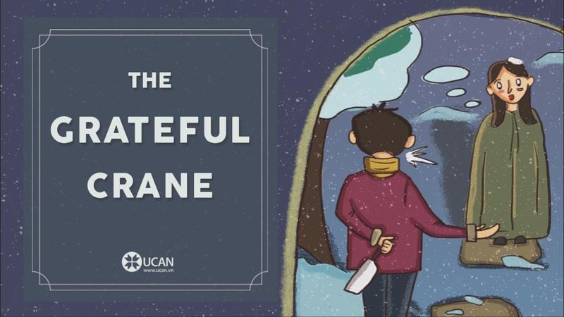 Learn English Listening   English Stories - 36. The Grateful Crane
