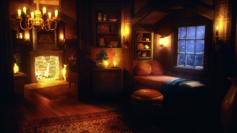 Cozy Winter Ambience Blizzard Heavy Snowstorm Wind Sounds and Fireplace for Relaxation