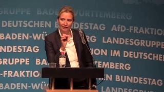 Es ist erstaunlich welche Freiheiten die ANTIFA in unserem Land hat Dr. Alice Weidel, AfD