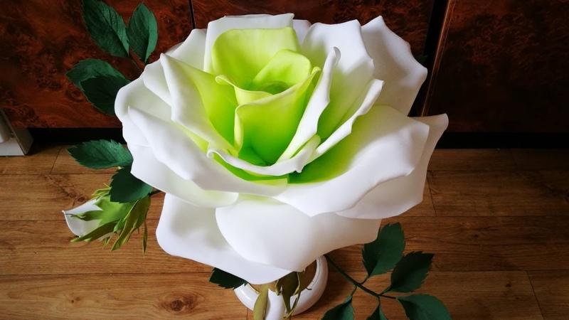 Вторая жизнь настольной лампы роза светильник из фоамирана Часть 1