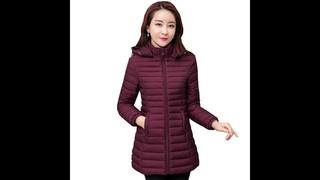 Зимняя куртка женская 2020 новая тонкая модная парка женская однотонная куртка с капюшоном на хлопковой подкладке женская