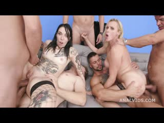 Brittany Bardot Vs Giada Sgh #2 5on2 Balls Deep Anal, DAP, Pee drink, ButtRose, Squirt Drink and Cum Swallow