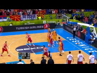 Dunk of the Game N. Nedovic MKD-SRB EuroBasket 2013