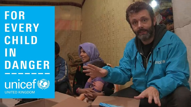 Michael Sheen visits Lebanon with Unicef