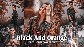 Lightroom Mobile Preset Free DNG   Black And Orange Colour Tone Presets   Lr Preset Editing Tutorial