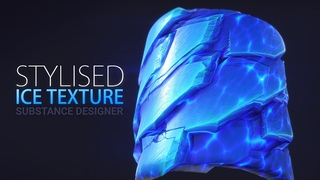 Substance Designer - Stylised / Cartoon ICE texture   Tileable Game Texture   Seamless Textures