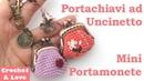 Tutorial Mini Portamonete Clic Clac per Portachiavi ad Uncinetto (sub. Eng. y Esp.)