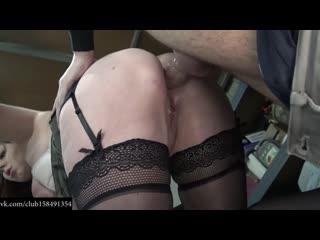 BITCH RAMMED IN SHOP Sex orn Classic Uniform BBW Sexy girl красивую девочку в униформе трахают а она кайфует чулки stockings fu