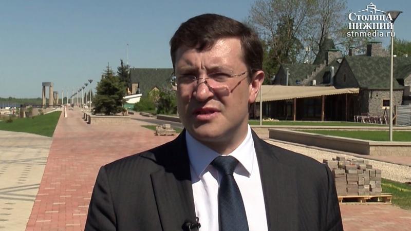 Генподрядчик усилит контроль за работой по благоустройству Нижневолжской набережной, — Глеб Никитин