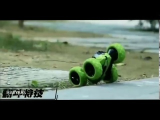 Remote Control Cars Stunt Rc Car High Speed Flashing 3D Flip roll Green & Blue Electric Race Double