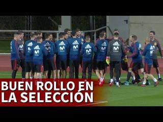 El buen rollo reina en la Selección: 'pasillito' a Isco, Silva y Saúl | Diario AS