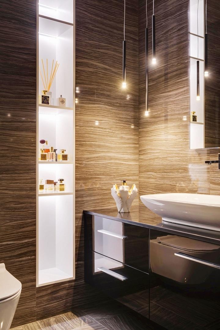 Лаконичный интерьер просторной  квартиры, разработанный студией Zanko Design