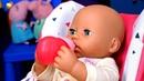 Беби Аннабель Вкусные пальчики - Кормим Анабель из бутылочки. Играем в куклы Как мама