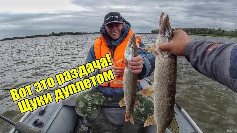 Щука клюет ОДНА ЗА ОДНОЙ ТОЛЬКО УСПЕВАЙ ЗАКИДЫВАТЬ Рыбалка на щуку на спиннинг с лодки