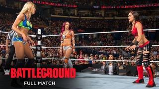 FULL MATCH - Charlotte vs. Brie Bella vs. Sasha Banks – Triple Threat Match: WWE Battleground 2015