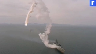 Опубликовано видео неудачного пуска «Калибра» с фрегата «Маршал Шапошников»