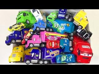 Box Full of Cars Disney Toys Lightning McQueen & Trucks Learn Colors Toddler Learning