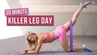 30 MIN INTENSE LEG DAY WORKOUT - With Resistance Bands, No Repeat - (HIIT IT HARDER DAY 2)