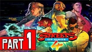 STREETS OF RAGE 4 Walkthrough Part 1 (PS4 Pro) FULL GAME No Commentary  1440p (60ᶠᵖˢ) ✔