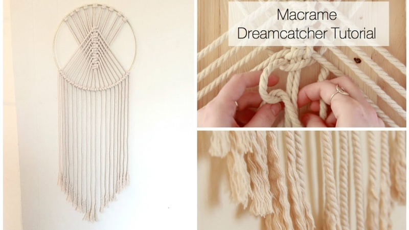 How To Make A Macrame Wall Hanging Dreamcatcher Tutorial